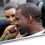 Kanye West really knows how to treat a lady as he takes girlfriend Kim Kardashian for a ride in a Lamborghini in Paris, France on June 17th, 2012