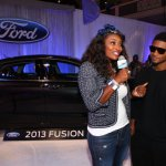 Usher Raymond may be going through serious travails with his ex-wife, Tameka Foster, right now, but he was his usual charismatic self when he visited the the Ford Hot Spot and spoke with host, Toccarra Jones.