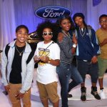 Teenaged heartthrobs, Mindless Behavior, also within the realm of driving age, also stopped by to check out the 2013 Ford Fusion.