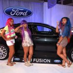 "Tameka ""Tiny"" Cottle brainchild, the white-hot OMG Girlz, even dropped in to ogle the 2013 Ford Fusion and possibly consider it as their first vehicle since they are just now reaching driving age."