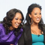 Actors Tia Mowry and Tamera Mowry speak onstage at the 'Tia & Tamera' panel during day 5 of the NBCUniversal portion of the 2012 Summer TCA Tour at The Beverly Hilton Hotel on July 25, 2012 in Beverly Hills
