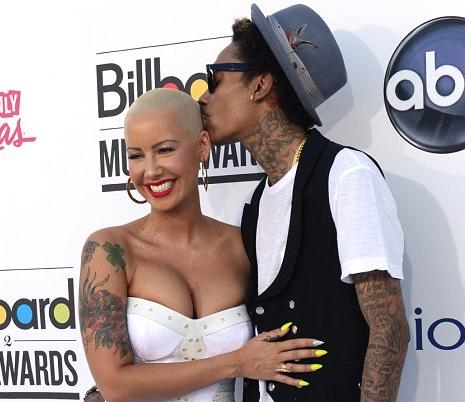 amber rose &amp; wiz khalifa