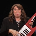 candy crowley with keyboard