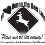 deer crossing lady