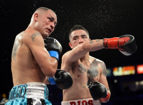 Mike Alvarado and Brandon Rios