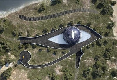 naomi campbell home (shaped after eye of horus)
