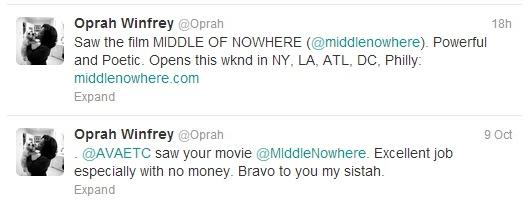 oprah's ava tweets