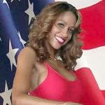 stacey dash & flag