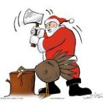 Santa Slaying Thanksgiving