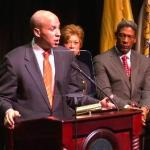 corey booker at council meeting