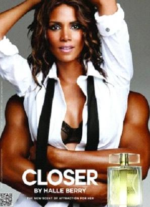 halle berry (closer perfume ad)