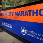 nyc marathon sign/banner
