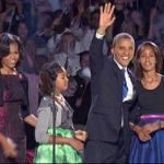 obama and family (2012 victory speech)