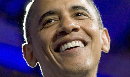 obama headshot smile