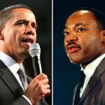 President Barack Obama and Martin Luther King.