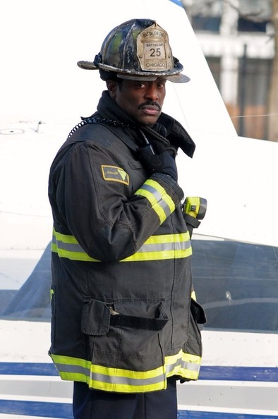 "Eamonn Walker  of ""Chicago Fire"" films in Chicago on Nov. 30, 2012"