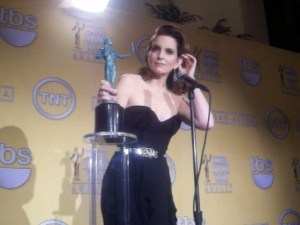 Tina Fey, winner of the SAG Award for her role on '30 Rock' in 2012. (Photo Credit: Eunice Moseley)