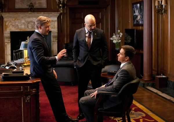 Jeffrey Wright (center) stars in &quot;Broken City&quot; along with Russell Crowe and Mark Wahlberg.