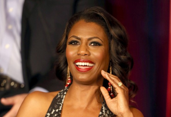 "Omarosa Manigault speaks onstage at the ""All Star Celebrity Apprentice"" breakfast session of the 2013 Winter TCA Tour- Day 3 at the Langham Hotel on January 6, 2013 in Pasadena"