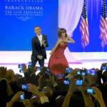 president & first lady do first dance at inaugural ball
