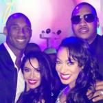 kobe & melo & wives