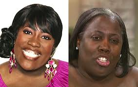 Sheryl Underwood with and without makeup
