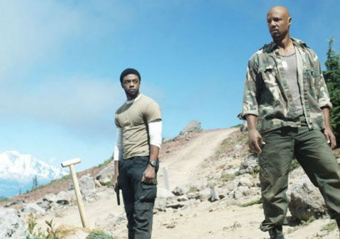 "Chadwick Boseman (L) and Tory Kittles in ""The Killl Hole"""