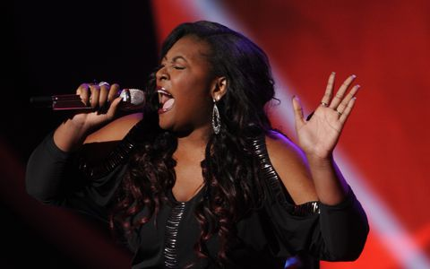 "Candice Glover performs ""I Who Have Nothing"" on ""American Idol,"" March 13, 2013"