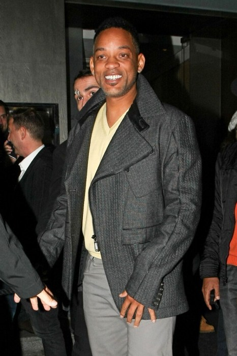 Will Smith shows off his freshly cut hair as he leaves NOBU Berkley restaurant in what appears to be a fantastic mood. (March 3, 2013)