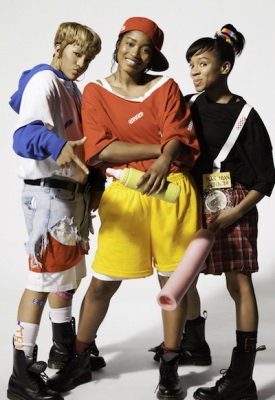 "(L-R) Drew Sidora, Keke Palmer and Lil Mama in VH1's ""Crazy Sexy Cool: The TLC Story"""