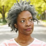 gray haired black woman