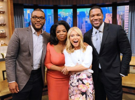 Tyler Perry Surprises 'Kelly & Michael' with Oprah (Watch)