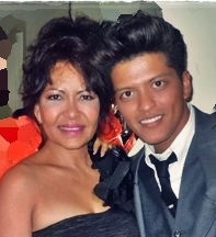 Bruno Mars and his mother Bernadette Hernandez