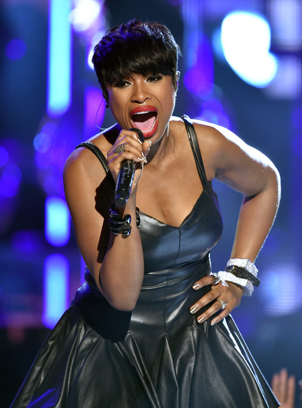 Singer Jennifer Hudson (C) performs onstage during the BET AWARDS '14 at Nokia Theatre L.A. LIVE on June 29, 2014 in Los Angeles, California