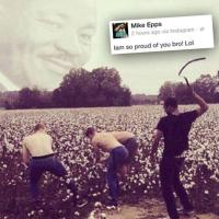 Mike Epps Catches it for Pic of Black Man Whipping White Slaves