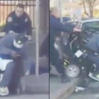 Uh Oh! Cop Shoves Black Man in Wheelchair into the Street...And its Caught On Camera!