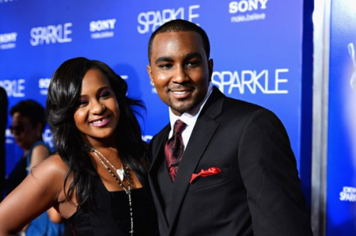 "Bobbi Kristina Brown (R) and Nick Gordon arrive at Tri-Star Pictures' ""Sparkle"" premiere at Grauman's Chinese Theatre on August 16, 2012 in Hollywood, California"