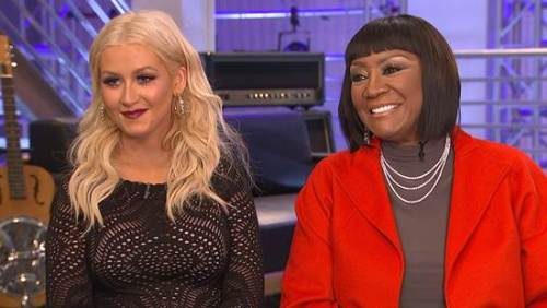 """Christina Aguilera and Patti LaBelle on """"Access Hollywood"""" discussing their collaboration on """"The Voice"""""""