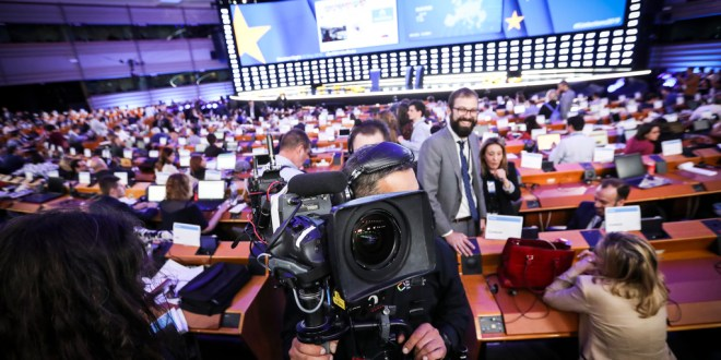 European elections 2019 - General atmosphere inside the Plenary chamber in European Parliament in Brussels