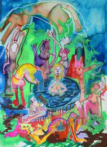 Evangeline Cachinero - The-town-fountain_Evangeline-Cachinero_2014