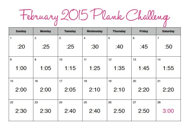 February 2015 Plank Challenge Pic