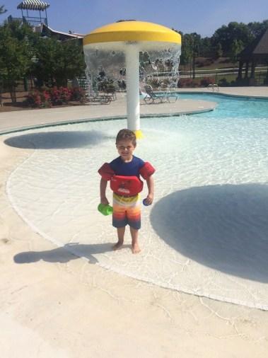 Luke at neighborhood pool