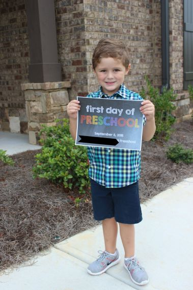1st Day of Preschool 2015