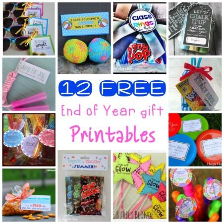 12 EOY gift printables