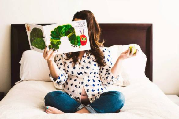 maternity picture idea  hungry caterpillar
