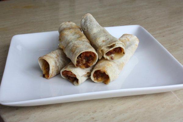 Beef, Bean, & Cheese Taquitos