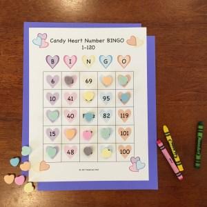 Candy Heart Bingo Game Printable Download