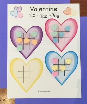 Valentine heart tic tac toe printable download