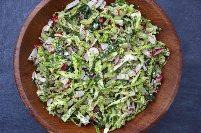 Crunchy Green Slaw with Poppy Seed Dressing