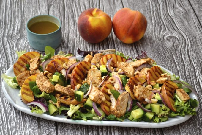Tandoori Chicken & Grilled Peach Salad